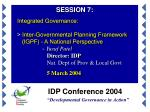 "IDP Conference 2004 ""Developmental Governance in Action"""