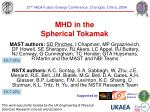 MHD in the Spherical Tokamak
