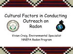 Cultural Factors in Conducting Outreach on Radon
