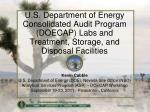 Kevin Cabble U.S. Department of Energy (DOE), Nevada Site Office (NSO)