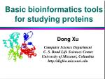 Basic bioinformatics tools for studying proteins