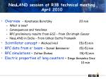 NeuLAND session at R3B technical meeting April 2010
