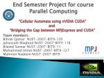 End Semester  Project  for course Parallel Computing