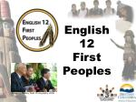 English 12 First Peoples