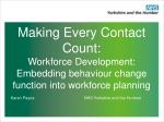 Making Every Contact Count:  Workforce Development: