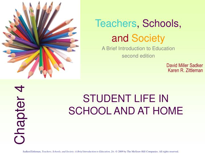 student life in school and at home n.