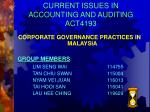 CURRENT ISSUES IN ACCOUNTING AND AUDITING ACT4193