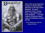 Beowulf: Background Information