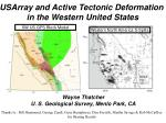 USArray and Active Tectonic Deformation in the Western United States