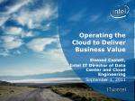 Operating the Cloud to Deliver Business Value