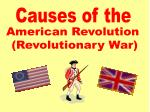 American Revolution (Revolutionary War)