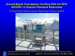 Ground Based Tropospheric Profiling With the RPG-HATPRO 14 Channel Filterbank Radiometer