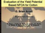 Evaluation of the Yield Potential Based NFOA for Cotton