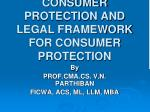 TITLE OF THE PAPER: CONSUMER PROTECTION AND LEGAL FRAMEWORK FOR CONSUMER  PROTECTION