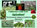 California's Cash Cow- Agriculture !