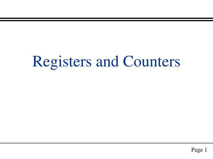 registers and counters n.