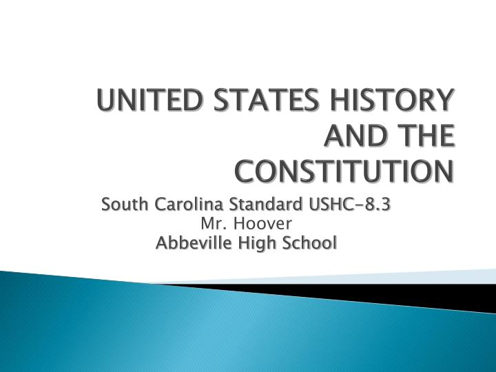 united states history and the constitution n.