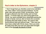 Paul's letter to the Ephesians, chapter 2: