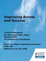 Improving Access and Success
