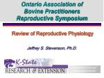 Review of Reproductive Physiology