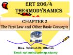 CHAPTER 2 The First Law and Other Basic Concepts