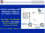 Active Learning with Planetary Objects (for Computer Networks)