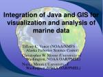 Integration of Java and GIS for visualization and analysis of marine data