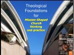 Mission-Shaped Church thinking and practice
