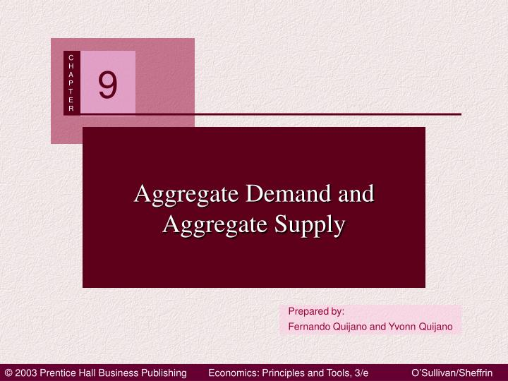 aggregate demand and aggregate supply n.