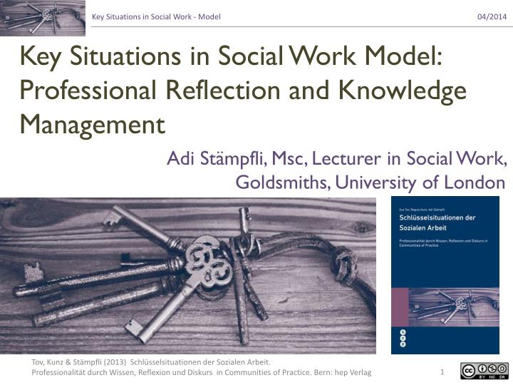 key situations in social work model professional reflection and knowledge management n.