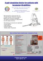 A gait simulation device for patients with locomotor disabilities