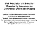 Fish Population and Behavior Revealed by Instantaneous Continental-Shelf-Scale Imaging