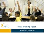 Tutor Training Part 1