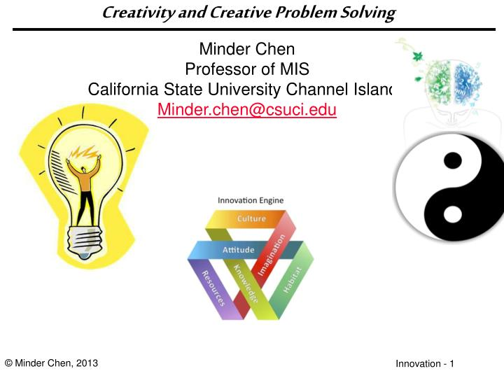 creativity and creative problem solving n.