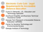 Electronic Curb Cuts: Legal Requirements for Accessible Distance Education