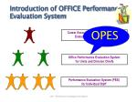 Performance Evaluation System (PES)  for Individual Staff