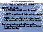 FUTSAL TACTICAL ELEMENTS FUTSAL TACTICS: INDIVIDUAL: what I must do myself