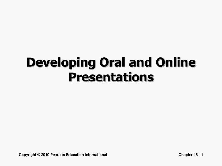 developing oral and online presentations n.