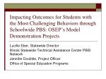 Lucille Eber, Statewide Director  Illinois Statewide Technical Assistance Center PBIS Network