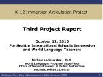 K-12 Immersion Articulation Project