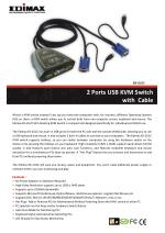 2 Ports USB KVM Switch  with  Cable