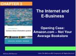 Opening Case: Amazon – Not Your Average Bookstore