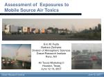 Assessment of  Exposures to  Mobile Source Air Toxics