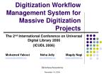 Digitization Workflow Management System for Massive Digitization Projects