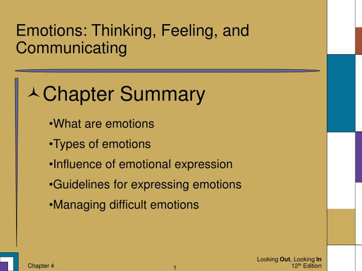 emotions thinking feeling and communicating n.