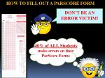 HOW TO FILL OUT A PARSCORE FORM