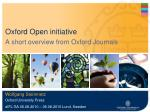 Oxford Open initiative