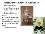 German Unification under Bismarck