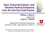 Soot, Unburned Carbon, and Ultrafine Particle Emissions from Air and Oxy-Coal Flames
