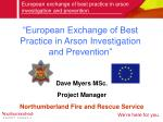 """""""European Exchange of Best Practice in Arson Investigation and Prevention"""""""